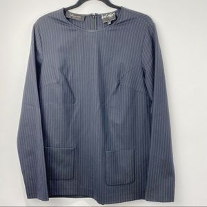 Lord & Taylor pinstripe long sleeve blouse